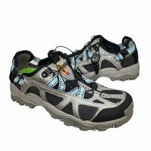 Salomon Techamphibian Contragrip Hiking Mesh Water Shoes Grey Blue Womens 7
